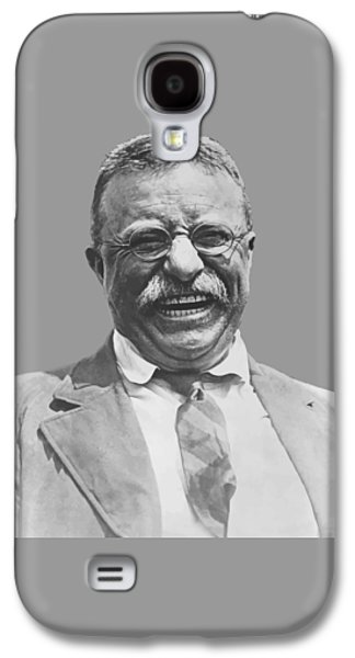 Army Digital Art Galaxy S4 Cases - President Teddy Roosevelt Galaxy S4 Case by War Is Hell Store