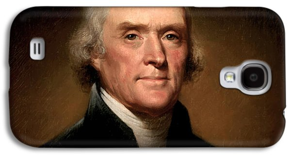 4th July Paintings Galaxy S4 Cases - President Thomas Jefferson  Galaxy S4 Case by War Is Hell Store