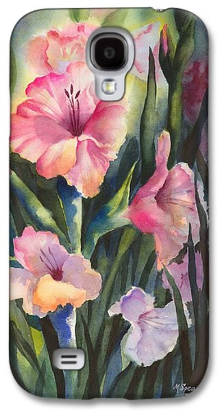 Gladiolas Paintings Galaxy S4 Cases - Pretty in Pink Galaxy S4 Case by Marty Spears