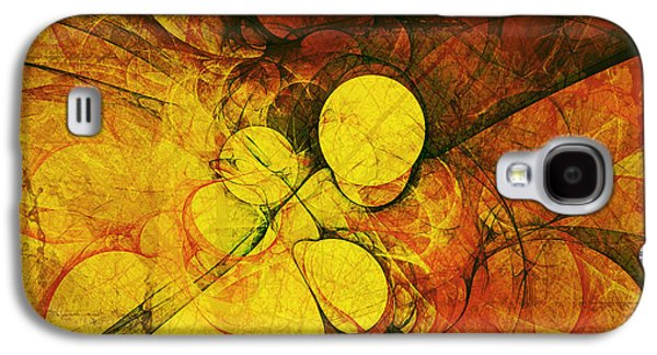 Business Galaxy S4 Cases - Primitive Earth Abstract Galaxy S4 Case by Georgiana Romanovna