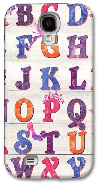 Princess Alphabet Galaxy S4 Case by Debbie DeWitt