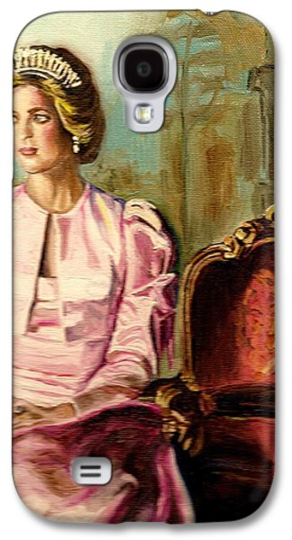 Kate Middleton Paintings Galaxy S4 Cases - Princess Diana The Peoples Princess Galaxy S4 Case by Carole Spandau