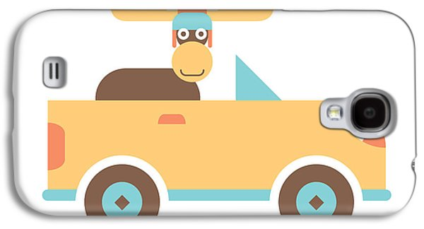 Moose Road Trip Galaxy S4 Case by Mitch Frey