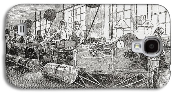 Machinery Drawings Galaxy S4 Cases - Printing Banknotes In The 19th Century Galaxy S4 Case by Ken Welsh