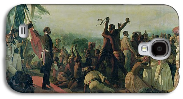 Proclamation Of The Abolition Of Slavery In The French Colonies Galaxy S4 Case by Francois Auguste Biard