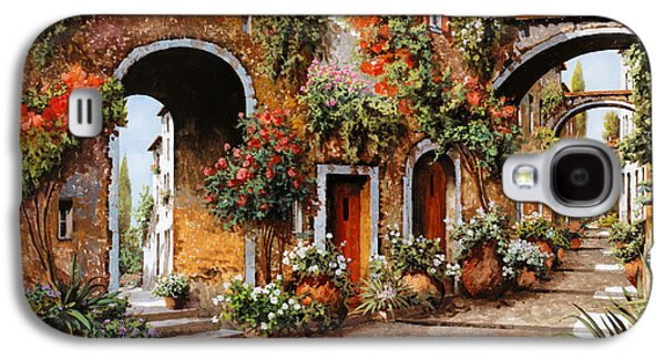 Town Paintings Galaxy S4 Cases - Profumi Di Paese Galaxy S4 Case by Guido Borelli