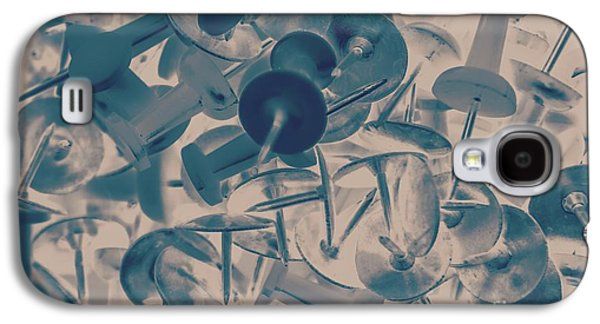 Projected Abstract Blue Thumbtacks Background Galaxy S4 Case by Jorgo Photography - Wall Art Gallery