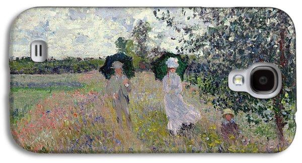 Promenade Near Argenteuil Galaxy S4 Case by Claude Monet