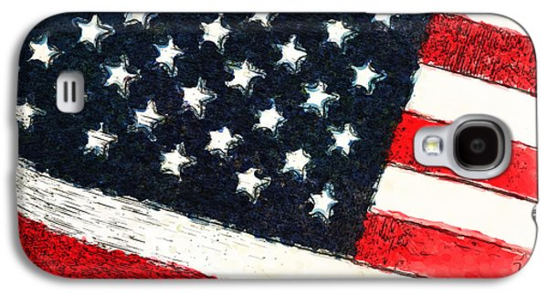 Flag Of Usa Galaxy S4 Cases - Proud To Be Galaxy S4 Case by Karol  Livote