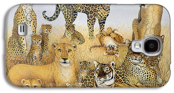 Cheetah Drawings Galaxy S4 Cases - Ps112563 Galaxy S4 Case by Pat Scott