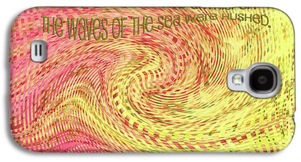 Storm Mixed Media Galaxy S4 Cases - Psalm 107 Galaxy S4 Case by Bonnie Bruno