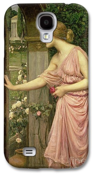 Pre-raphaelites Galaxy S4 Cases - Psyche entering Cupids Garden Galaxy S4 Case by John William Waterhouse