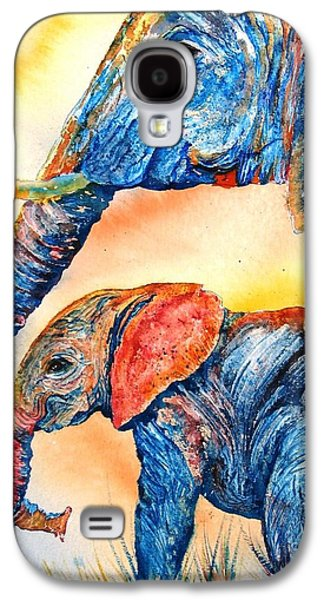 Best Sellers -  - Nature Abstracts Galaxy S4 Cases - Psychedelephants Galaxy S4 Case by Donna Martin