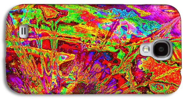 Abstract Digital Tapestries - Textiles Galaxy S4 Cases - Psychedelia II Galaxy S4 Case by Laura Boyd