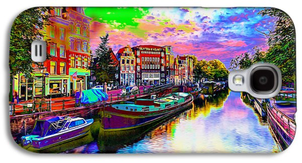 Transportation Photographs Galaxy S4 Cases - Psychedelic Amsterdam-Netherlands Galaxy S4 Case by Ron Fleishman