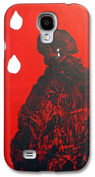 Law Enforcement Paintings Galaxy S4 Cases - PTSD Silent Wounds Galaxy S4 Case by Elizabeth Kilbride