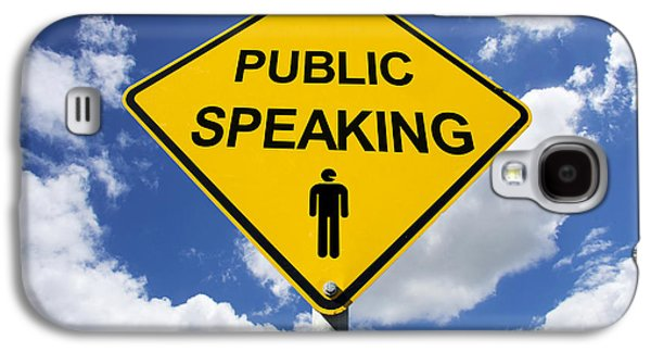 Public Speaking Sign Galaxy S4 Case by Jorgo Photography - Wall Art Gallery