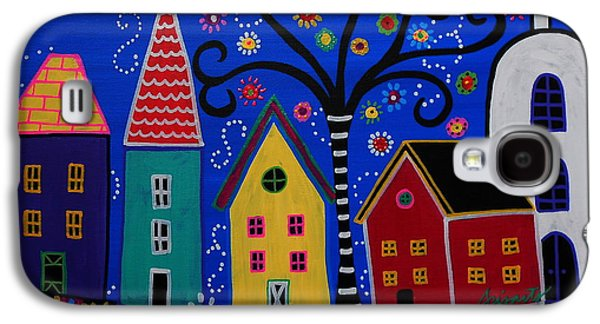 Carter House Galaxy S4 Cases - Pueblo I Painting Galaxy S4 Case by Pristine Cartera Turkus