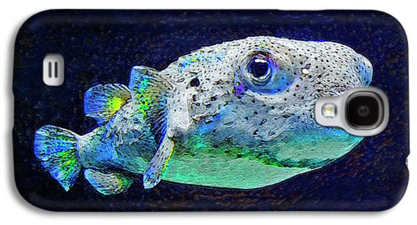 Porcupine Fish Galaxy S4 Cases - Puffer Fish Galaxy S4 Case by Jane Schnetlage