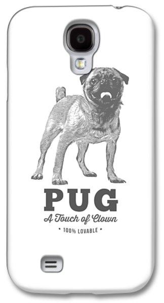 Shirt Digital Galaxy S4 Cases - Pug Dog Touch of Clown T-shirt Galaxy S4 Case by Edward Fielding