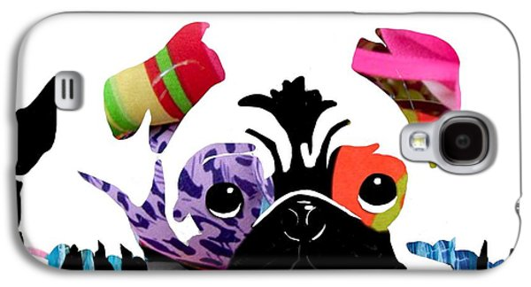 Pug Framed Prints Digital Art Galaxy S4 Cases - Pug Pup Galaxy S4 Case by Cindy Edwards