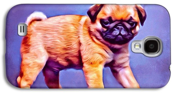 Puppies Digital Galaxy S4 Cases - Pug Pup Galaxy S4 Case by Scott Wallace