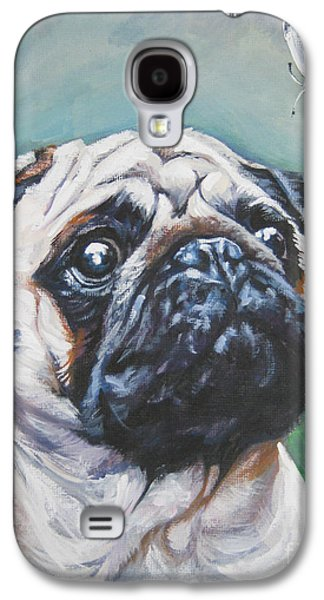 Pug With Butterfly Galaxy S4 Case by Lee Ann Shepard