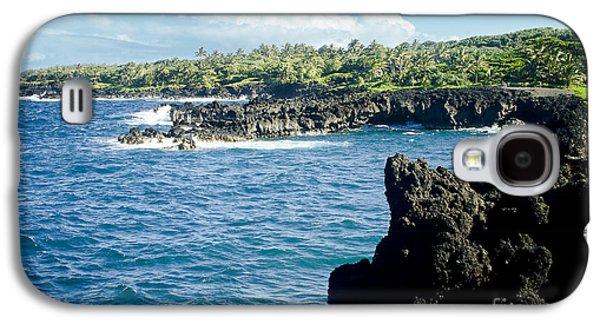 My Ocean Galaxy S4 Cases - Pukaulua Point Waianapanapa North Pacific Ocean Hana Maui Hawaii Galaxy S4 Case by Sharon Mau