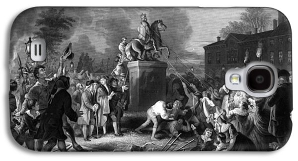 Pulling Down The Statue Of George IIi Galaxy S4 Case by War Is Hell Store