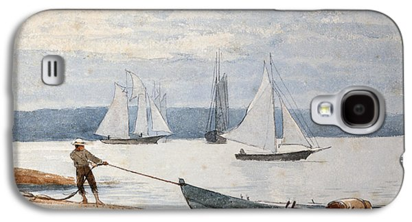 Pulling The Dory Galaxy S4 Case by Winslow Homer