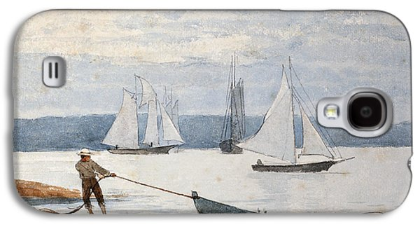 Men Drawings Galaxy S4 Cases - Pulling the Dory Galaxy S4 Case by Winslow Homer