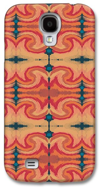 Tiled Galaxy S4 Cases - Pumpkin Spice 2- Art by Linda Woods Galaxy S4 Case by Linda Woods