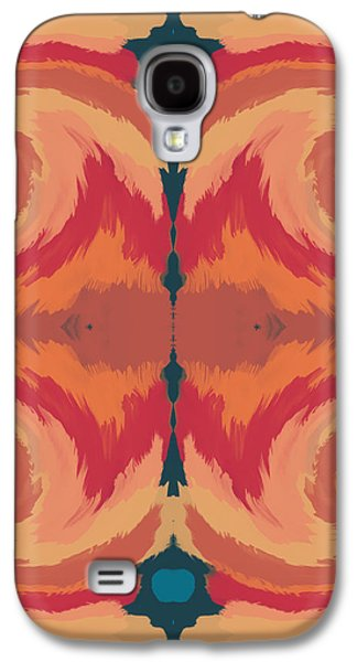 Patterned Mixed Media Galaxy S4 Cases - Pumpkin Spice- Art by Linda Woods Galaxy S4 Case by Linda Woods