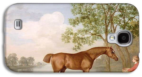 Pumpkin With A Stable-lad Galaxy S4 Case by George Stubbs