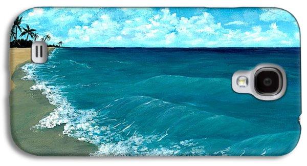 Drawing Galaxy S4 Cases - Punta Cana Beach Galaxy S4 Case by Anastasiya Malakhova