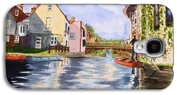 Cambridge Paintings Galaxy S4 Cases - Punting on the Cam Galaxy S4 Case by Susan Bauer