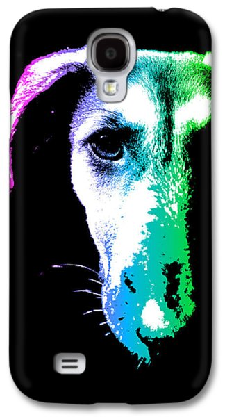 Puppy Digital Art Galaxy S4 Cases - Puppy dog head portrait colors art Galaxy S4 Case by Gregory DUBUS