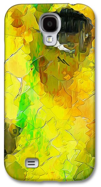 Mixed Labrador Retriever Galaxy S4 Cases - Puppy Eye in the colors Galaxy S4 Case by Stefano Senise