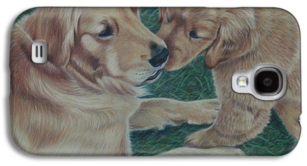 Puppies Galaxy S4 Cases - Puppy Kisses Galaxy S4 Case by Debbie Stonebraker