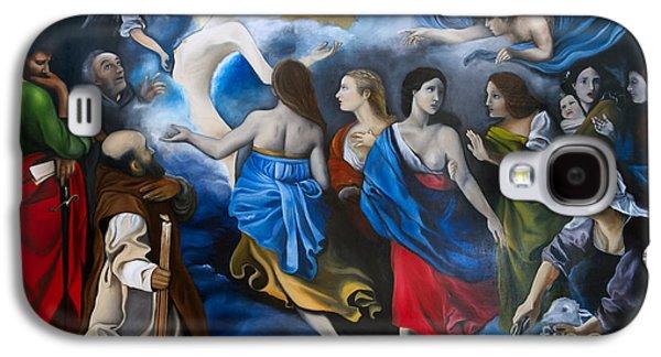 Religious Drawings Galaxy S4 Cases - Purgatory of Maria Magdalena Galaxy S4 Case by Gabriela Junosova