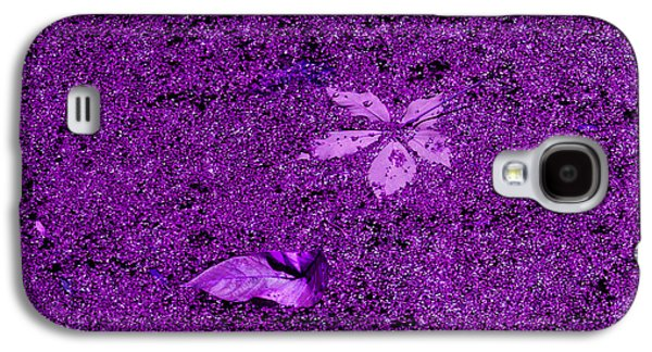 Drawing Galaxy S4 Cases - Purple Algae Galaxy S4 Case by Phil Welsher