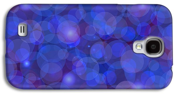 Blueish Galaxy S4 Cases - Purple And Blue Abstract Galaxy S4 Case by Frank Tschakert