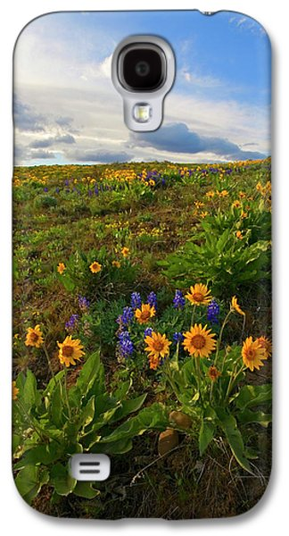 Yakima Valley Galaxy S4 Cases - Purple and  Gold Galaxy S4 Case by Mike  Dawson