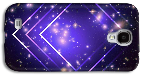 Purple Angles In Space Galaxy S4 Case by Brandi Fitzgerald