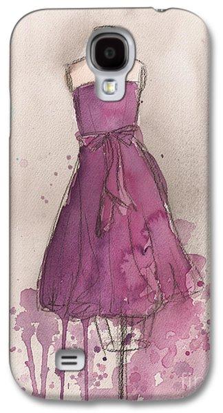 Strapless Dress Galaxy S4 Cases - Purple Bow Dress Galaxy S4 Case by Lauren Maurer
