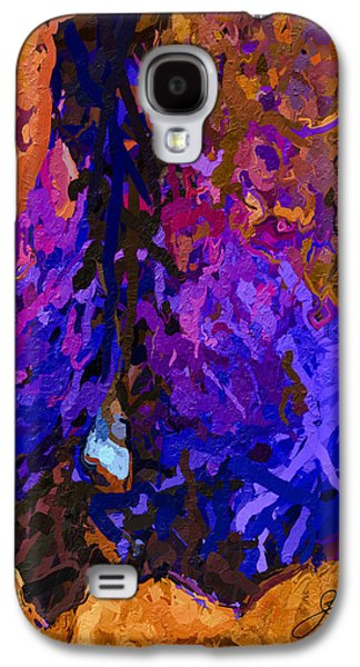 Abstract Movement Galaxy S4 Cases - Purple Cave Galaxy S4 Case by Joan Reese