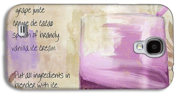 Purple Cow Mixed Cocktail Recipe Sign Galaxy S4 Case by Mindy Sommers
