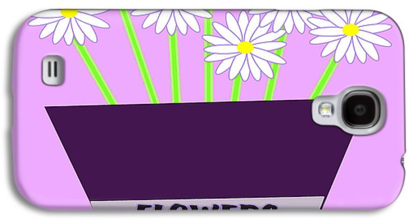Girl Galaxy S4 Cases - Purple Flower Pot  Galaxy S4 Case by Trudy Clementine