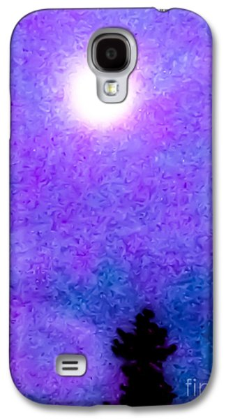 Abstract Nature Galaxy S4 Cases - Purple Haze Galaxy S4 Case by Heather Joyce Morrill