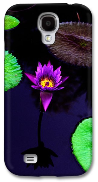 Purple Lily Galaxy S4 Case by Gary Dean Mercer Clark